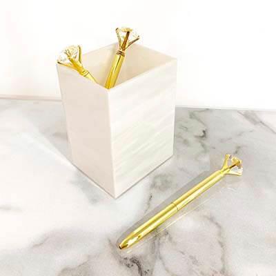 Porta pluma mármol