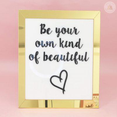 1. Be Beautiful