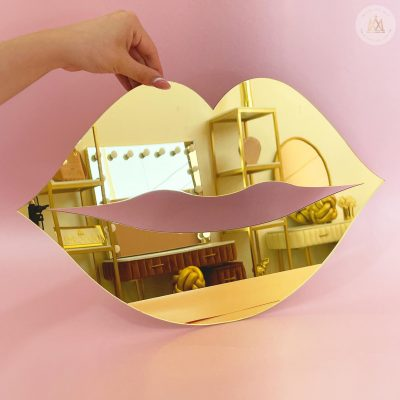 Espejo Beso Dorado