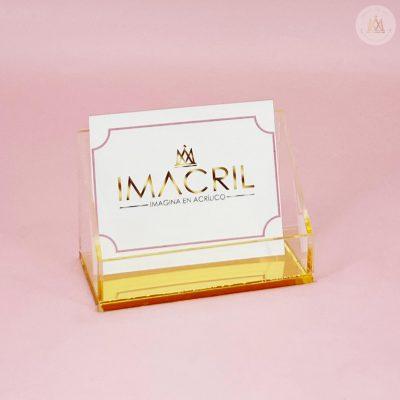 Porta tarjetas dorado